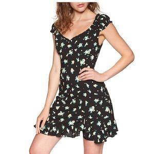 $128 Free People   Like A Lady black mini dress